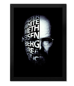 Poster Breaking Bad Com Moldura