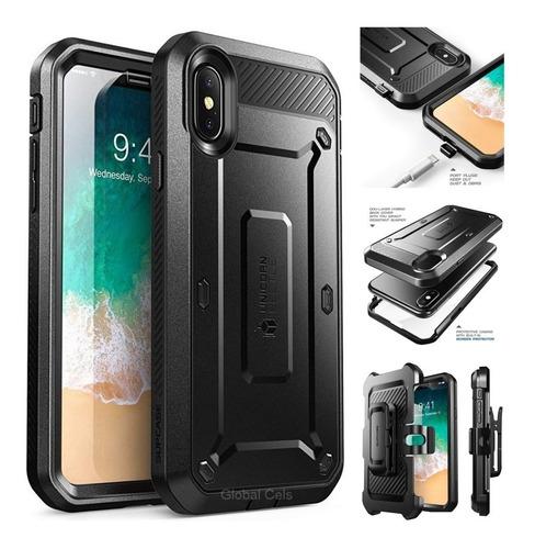 Case iPhone X Xs Protector 360 Armadura Usa Negro Original