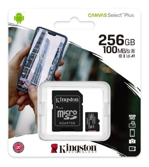 Cartão De Memória Kingston Canvas 256gb 100mb/s Sdcs2/256gb