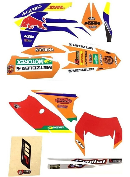 Kit Calcos Graficos Completo Ktm Exc 14/16 032 Solomototeam