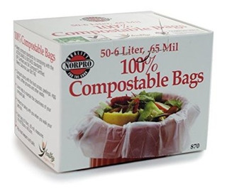 Norpro 100% Bolsas Compostables 50 Count