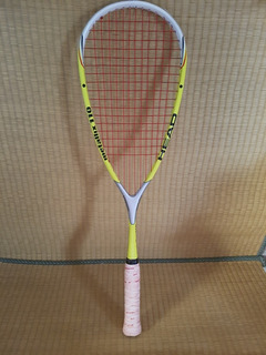 Raquete De Squash Head Metallix 110 Trincada Leia Tênis