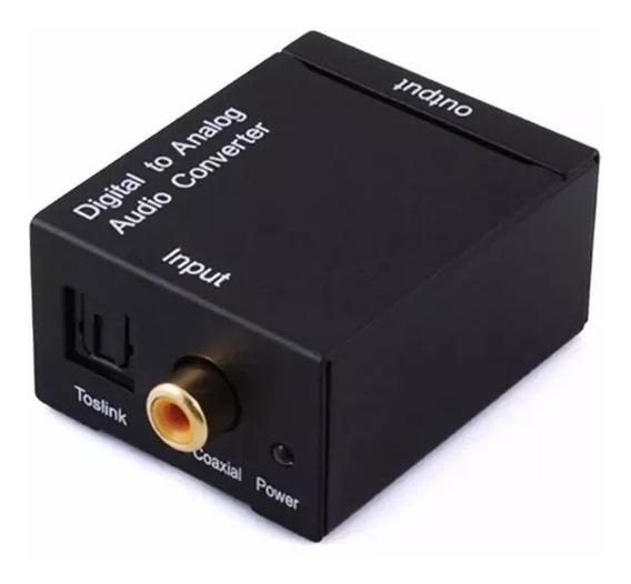 Adaptador Conversor Áudio Óptico Digital Para Rca Coaxial