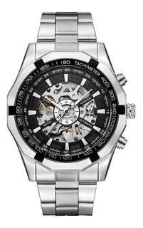 Reloj Hombre Winner 246 Automático Plateado