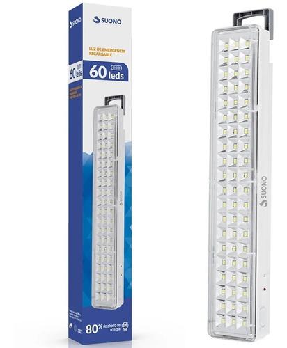 Imagen 1 de 7 de Luz De Emergencia Recargable 60 Leds Luces 2 Intensidades