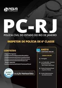 Apostila Pc-rj - Inspetor (2019) + Caderno De Questões