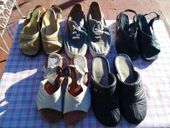 Lote De 5 Pares De Zapatos Mujer En Buen Estado