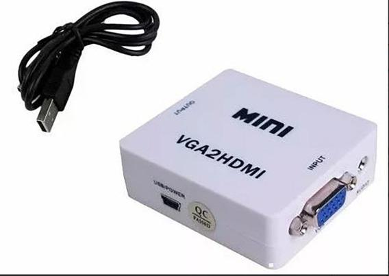 Conversor De Vga A Hdmi Video Audio Full Hd 1080p Pc Notebook