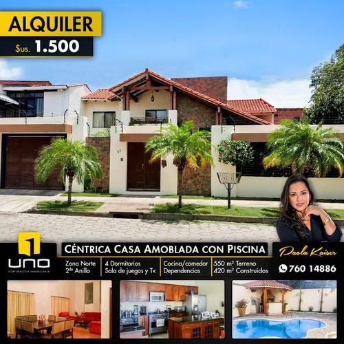 Linda Casa Amoblada En Alquiler