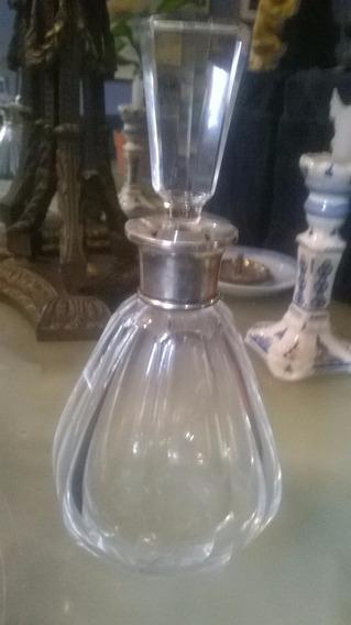 Perfumero De Cristal Con Virola De Plata Sellada 925