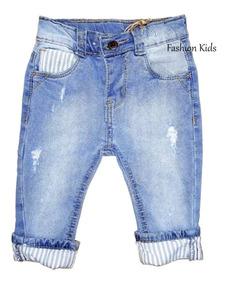 Calça Jeans Colorida Bebê Menino 1 Mes A 2 Anos