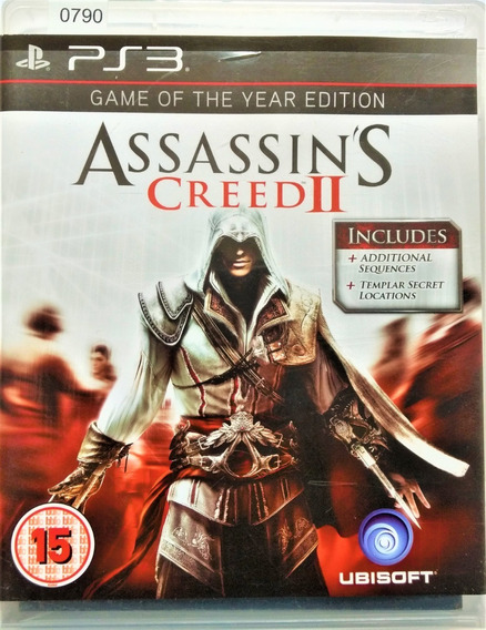 Jogo Ps3 Assassin´s Creed Il Mídia Física Original