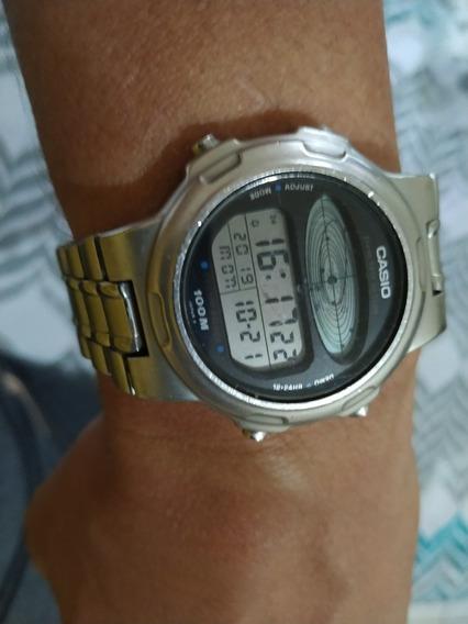 Relógio Casio Cosmo Phase De Aço Inoxidável Fundo De Rosca