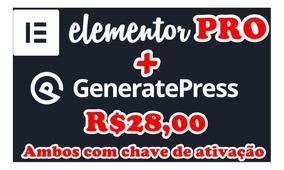 Plugin Elementorpro + Generatepress Ambos C/licença Original