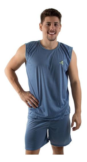 Kit 10 Pijama Masculino Camiseta- Roupas De Dormir