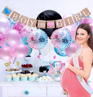 Set Globos Revelacion De Sexo Bebe