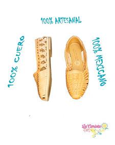 Zapatos Mexicanos Trenzados En Cuero Huaraches Artesanales