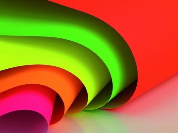 Cartulina Escolar Luma 45 X 63cm Fluor Fluorescente X Unidad