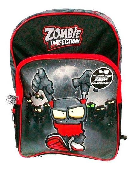 Zombie Infection Mochila Escolar 17 Brilla Negro Rojo B17-c