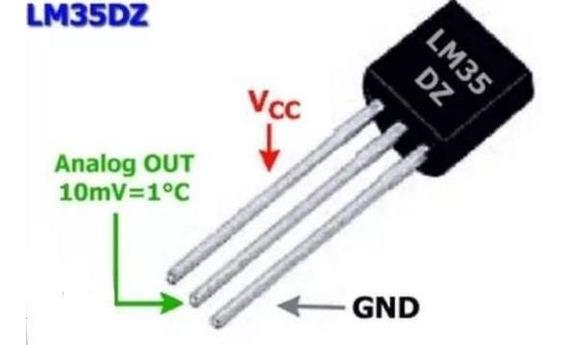 Sensor De Temperatura Lm35dz Árduino Pic Kit 5pcs
