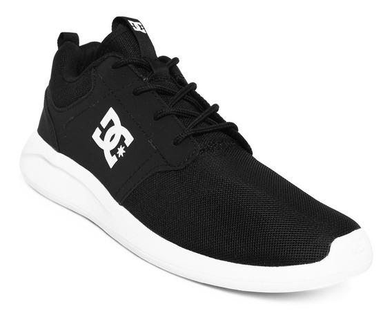 Zapatillas Dc Shoes Modelo Midway Negro Blanco! Coleccion 19