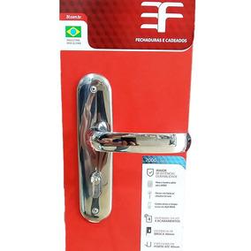 Kit Fechadura Porta 3f 116 Espelho = 3 Externa + 2 Banheiro