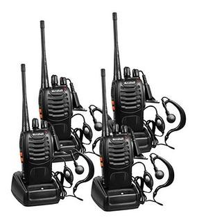 Kit 4 Radios De Dos Vías Arcshell Uhf 400-470mhz Auricular
