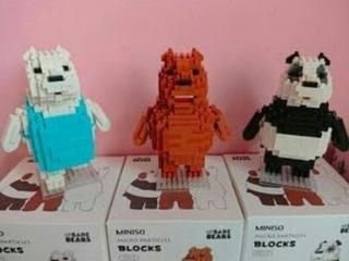 Set De 3 Legos Osos Escandalosos Pardo, Panda Y Polar