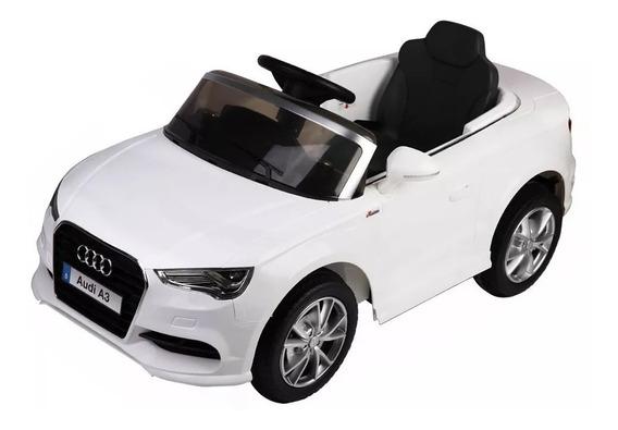 Auto Coche A Batería Audi A3 Control Remoto 12v Blanco
