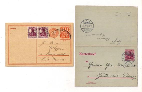 L5 - Alemania Imperio Lote De 2 Tarjetas Antiguas Germania