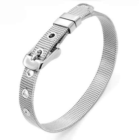 Pulseira Bracelete Feminino Aço Cirúrgico Elos