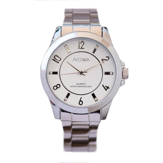 Relógio Nowa Prata Feminino Nw2019k Original