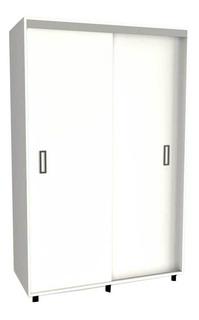 Placard Corredizo Tables 2 Puertas 6405 Color Blanco