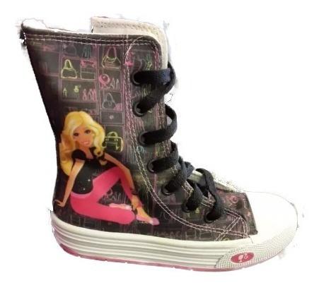 Zapatillas De Barbie Bota Media Print Negro Oferta