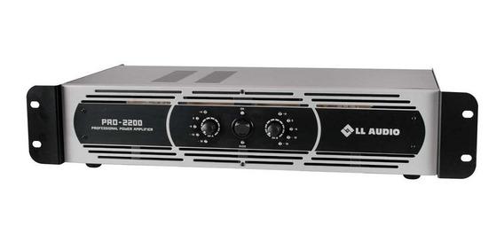 Amplificador Potencia Ll Audio Pro 2200 400wrms Som, Bivolt