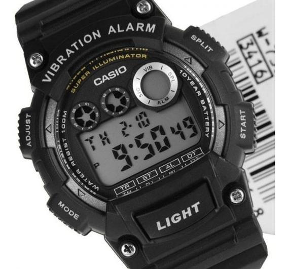 Relógio Casio W-735h-1avdf Padrão Masculino Preto Original