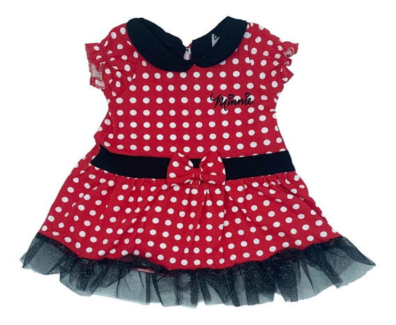 Vestido Algodon Estampado Disney Minnie