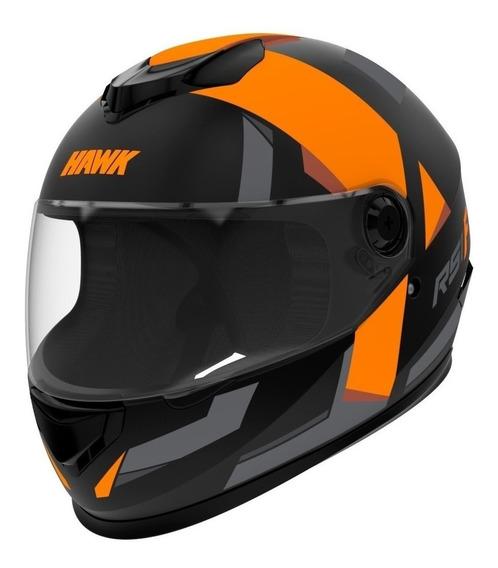 Casco para moto integral Hawk RS1 naranja fluo talle M