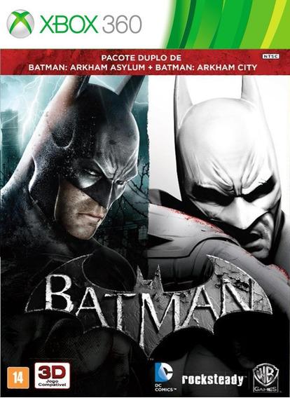 Batman: Arkham Asylum + Batman City (mídia Física) Xbox 360