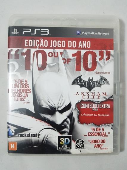 Batman Arkham City Ps3 Mídia Física Pronta Entrega