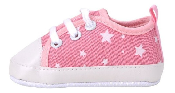 Sapato Menina Tenis Rosa Estrela