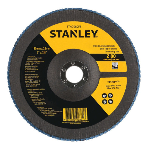 Disco Flap 7 X 7/8 Polegadas Z80 Stanley - Sta7080fz