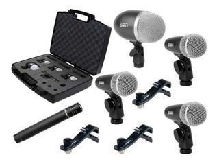 Set 5 Microfonos Bateria Proel Dmh5xl Valija La Roca Cuotas