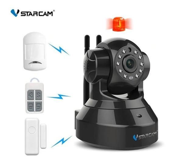 Kit Alarma Domiciliaria Casa Hogar + Camara Ip Wifi Inalambrica Motorizada Domo Hd Seguridad P2p Dvr Vstarcam