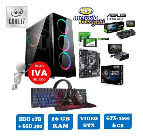 Imagen 1 de 10 de Cpu Gamer Intel Core I7 10ma/1tb+ssd 480gb 16gb Gtx1660 6gb