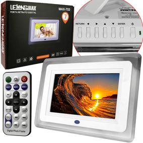 Porta Retrato Digital Tela 7 Controle Usb Card Sd Pendrive