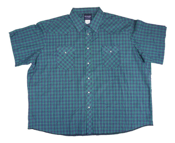 Camisa Tipo Vaquera Wrangler 4xl Big Mens Western