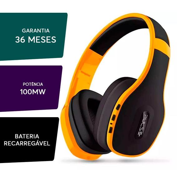 Fone De Ouvido Pulse Headphone Bluetooth Amarelo - Ph151