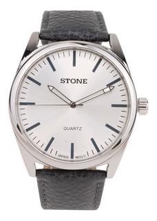 Reloj Pulsera Hombre Stone Cuero Linea Classic Garantia Oficial Obelisco