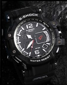Relógio Pulso S-shock Luxo Homens Fibra Carbono High Quality